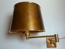 GEORGE HANSEN LAMPS WANDLAMPE GELENK Metalarte Messing New York sconce brass