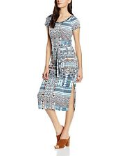 BN Sandwich Aztec Tunic Print Midi Dress Mood Indigo Jersey Dress Small UK 10