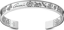 Authentic New in Box GUCCI Flora Silver Cuff Bracelet Size 18 $645