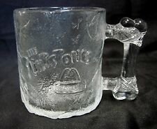 Flintstones McDonalds Mug Childrens Pre Dawn Bone Glass Cup Collectible USA GUC