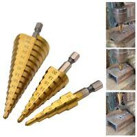 Drill Bits HSS Stahl Tialn Stufenbohrer Handwerkzeuge Kegelschneider Bohrer-Bits