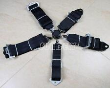 "Seat Belt 5point Motorsport Racing Harness Kit With Quick Release 3""straps Black"