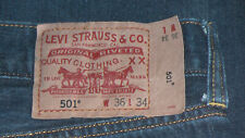 Levi's 501 Denim Jeans. Sz. 36x34. Vintage Mens Straight Leg Red Tab 501's. EUC.