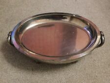 More details for heavy late 19th / early 20th c oval hot water warming dish with removable plate