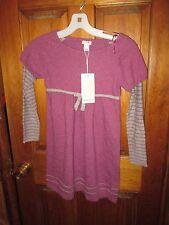 BNWT Girls Purple Pink Gray Monsoon Sweater Dress, Size 8-10 SHEILA