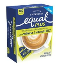 Equal Plus with Caffeine & Vitamin B12 Zero Calorie Sweetener
