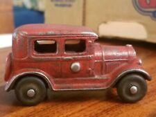 Hubley Arcade Kilgore Cast Iron  - Red Sedan Car Vintage RARE