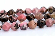 9-10MM Rhodonite Beads Star Cut Faceted Grade AAA Natural Loose Beads 15""