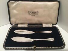 Cuchillos de manteca de par en Caja Plata Maciza Sheffield 1937
