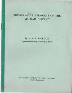 Mosses and Liverworts of the Malham District - M. C. F. Proctor PB