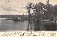Medford Massachusetts Pickerel Rock Spot Pond Antique Postcard K82469