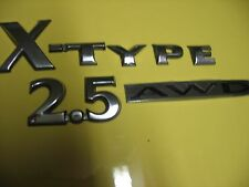 JAGUAR CHROME X-TYPE 2.5 AWD EMBLEMS