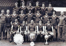 Liverpool legends x 6 signed 12x8 inch photo. Smith, Case, Callaghan, Moran etc.