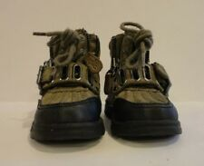 Baby Toddler Size 5 Ralph Lauren Polo Boots Olive-Black