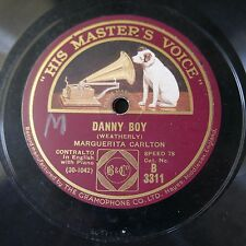 78rpm MARGUERITA CARLTON danny boy / arise o sun
