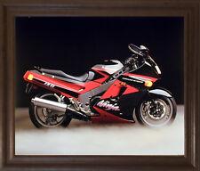 Kawasaki Ninja Zx11 Ron Kimball Motorcycle Wall Decor Art Brown Framed Picture