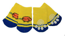 Cute Bird Design Anti-Slip Dog Socks Clean Comfy Paws Size Small Pets Puppy 4pcs