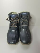 Sperry Saltwater Rain Duck Boots Black STS94063 Womens Size 8.5