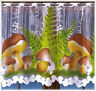 CAFE NET CURTAIN-MUSHROOM DESIGN-TWO DROPS-SOLD BY METERS