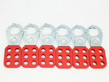 """6pcs, 1"""" Lock Out Hasp ,lockout device,Safety Lockout, steel Hasp with (Clips)"""