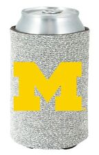 Michigan Wolverines Glitter Can Coozie [NEW] Womens Koozie Bling Drink Holder