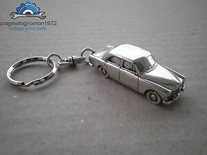 VOLVO AMAZON 130  4 DOOR  KEYCHAIN SILVER PLATED!.