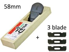 NEW Japanese hand plane / hira kanna / blade 58mm / REPLACEABLE EDGE-TYPE