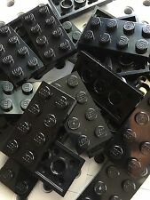 LEGO New Lot Of 24 Black Baseplates 2x4 Brick Building Plates Tiles