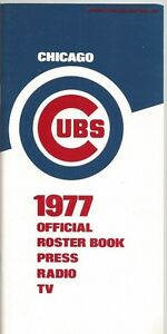 1977 CHICAGO CUBS MLB MEDIA GUIDE VINTAGE FREE SHIPPING