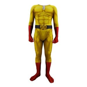 ONE PUNCH-MAN Jumpsuit Saitama Tights Cosplay Costume For Adult & Kids Halloween