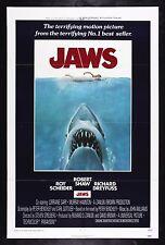 Jaws * CineMasterpieces Original Movie Poster 1975 Unused Shark C9 Nm