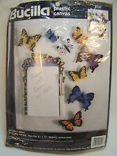 Plastic Canvas Cross stitch Kit Butterfly Magnet Arbor Note card holder Bucilla