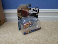 NEW Hot Wheels STAR WARS starships - REY'S SPEEDER - W/ FLIGHT STAND