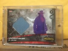 2018 Topps Now WWE Undertaker Wrestlemania 34 Matt Relic #/25 WWF XXXIV