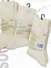 20 Paar Natur 100 % Baumwolle Socken ohne Naht Kochfest 35-38