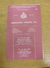 14/02/1970 Carshalton Athletic v Sutton United [Surrey Senior Cup] (team name &