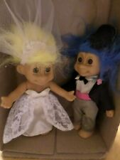 Russ Troll Poseable Dolls - Bride & Groom - approx 7 inches