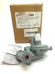 Sensus 496 Domestic Gas Regulator Broad Output Green Spring 60 PSI