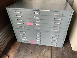 """Vintage 5 Drawer Flat file Blueprint Cabinets 41"""" w"""