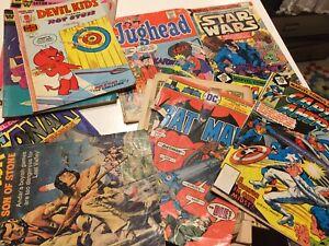 VTG 70s comic lot 12 star wars disney batman captain america turok conan