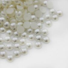 1000 High Quality Flat Back Half Round Pearls Nail Art Craft Face Embellishment