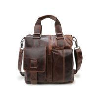 Men's Bag Crazy Vintage Leather Messenger Briefcase Bag Satchel Laptop Briefcase