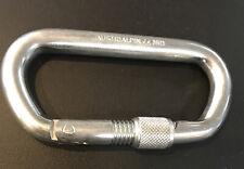 Austri Alpin Carabiner - Large Locking Oval Steel AUSTRIALPIN
