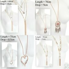 Lagenlook Costume Jewellery Necklace - Rose Gold Coloured - Choose Design
