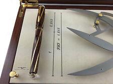 Visconti Divina Proporzione 18k Gold Burlwood Celluloid Fountain Pen #031/618-F