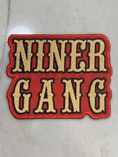 San Francisco 49ers Niner Gang Embroidered Iron On Patch~Free Shipping from CA
