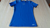 Boys Under Armour Sonic Fitted Short Sleeve Shirt Royal Blue Ylarge YLG 1236087