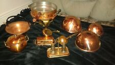 Copper and brass kithchen lot 15 pieces