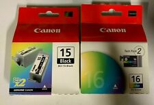 Canon BCI15 and 16 ink for ip 90 ip 80 Genuine Canon ink New in Boxes