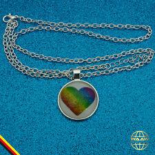 Yoga Meditation Regenbogen Chakra Halskette Kette Damenkette Damen Leder Strass